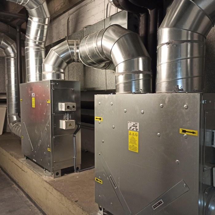 Instalación de recuperadores de calor en los vestuarios del Pabellón Príncipe Felipe